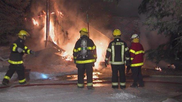 Les pompiers de Saint-Joseph-de-Beauce sont intervenus dimanche soir.