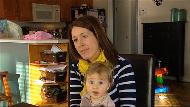 Meryanie Giroux a choisi d'allaiter son bébé.