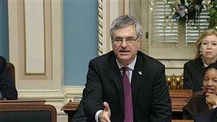 Le chef du Parti libéral du Québec, Jean-Marc Fournier, pendant la période de questions, le 12 février