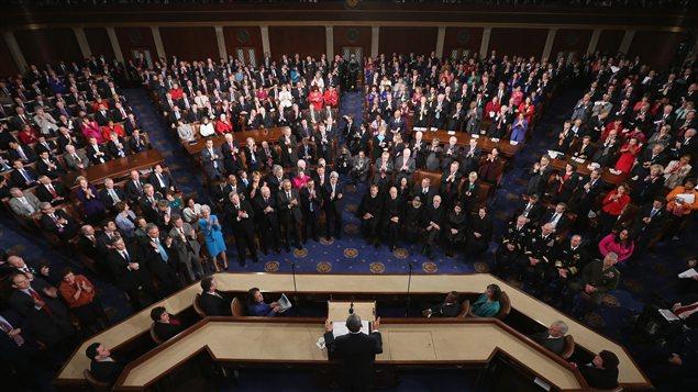 Le congrès américain pendant le discours sur l'état de l'union, le 12 février 2013