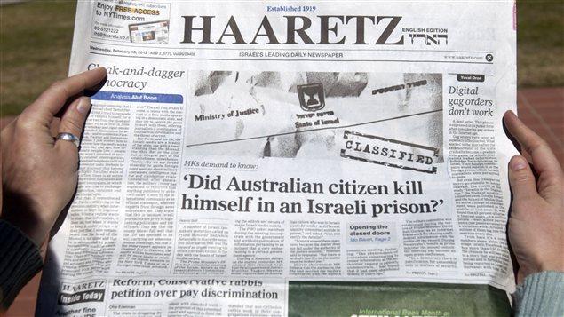 Le journal Haaretz s'interroge : « Le citoyen australien s'est-il suicidé en prison ? »