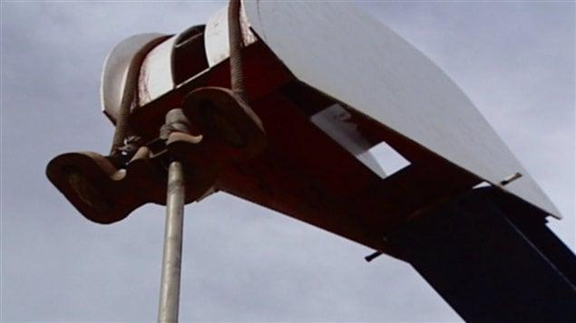 Station de pompage de pétrole à Gaspé
