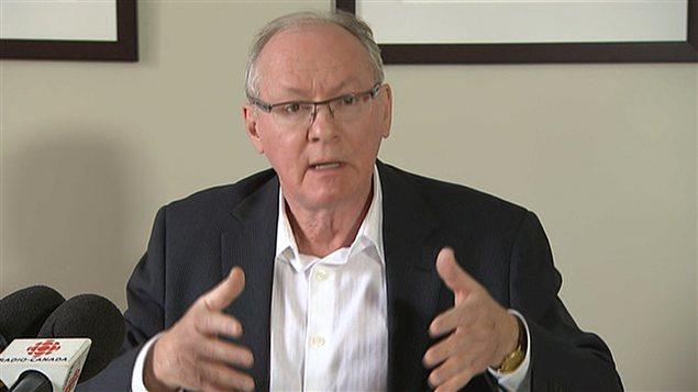 Max Roy, président de la Fédération québécoise des professeures et professeurs d'université (FQPPU), en conférence de presse le 14 janvier 2013