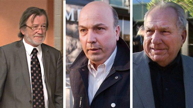 Martial Fillion, Frank Zampino et Bernard Trépanier