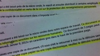 Radio-Canada a obtenu copie d'un échange de courriels à l'interne.