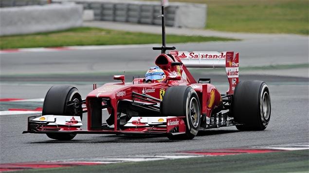 Fernando Alonso aux essais de Barcelone