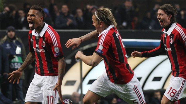 Kevin-Prince Boateng (à gauche) et ses coéquipiers de l'AC Milan.