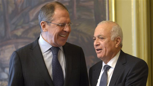 Sergueï Lavrov et Nabil Al-Arabi à Moscou
