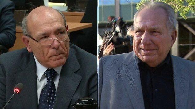 Nicolo Milioto, ex-propriétaire de Mivela Construction, et Bernard Trépanier, ancien argentier d'Union Montréal, le parti du maire Tremblay