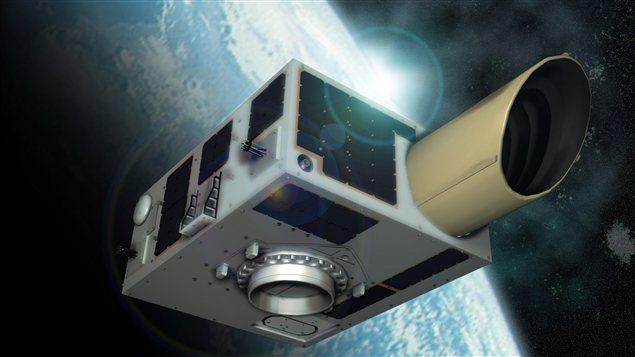 Un dessin du satellite canadien NEOSSat qui sera lancé lundi à partir de l'Inde.