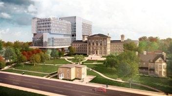 Le projet de l'hôpital Bridgepoint sur la rue Jack Layton