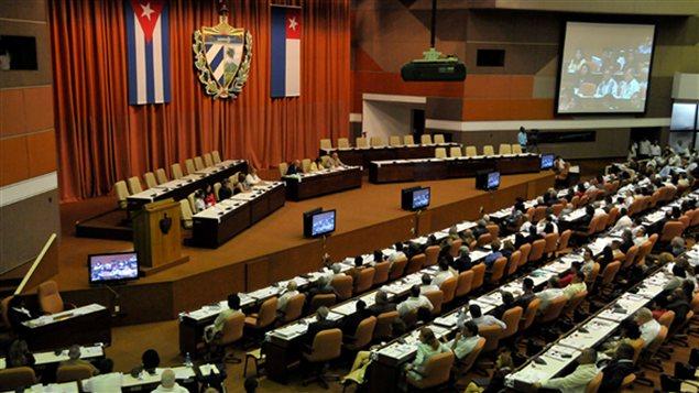Vue générale de l'Assemblée cubaine réunie à La Havane, le 24 février.