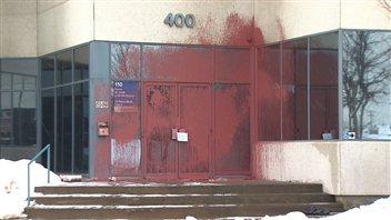 Les bureaux du député Léo-Bureau Blouin, vandalisés