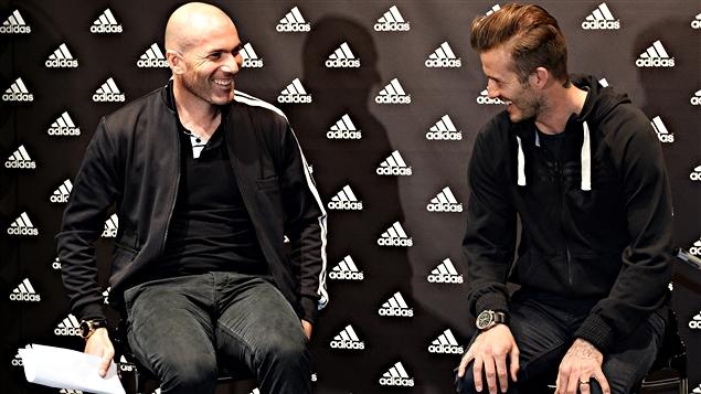 Zinedine Zidane et David Beckham
