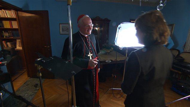 Le cardinal Marc Ouellet en entrevue exclusive avec Céline Galipeau