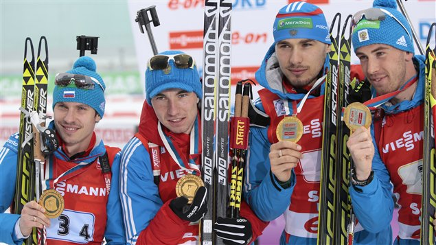 L'équipe russe de biathlon.