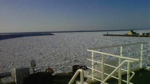 Port de Cap-aux-Meules en hiver