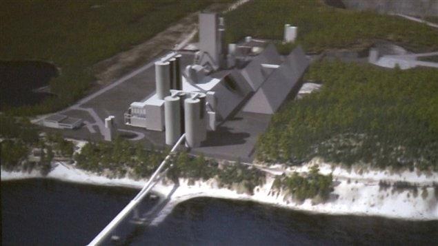 Modélisation du projet de cimenterie de Port-Daniel-Gascons