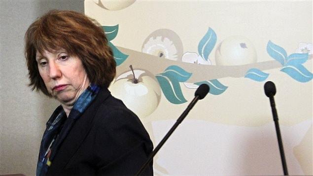 Catherine Ashton, responsable des Affaires étrangères de l'Union européenne