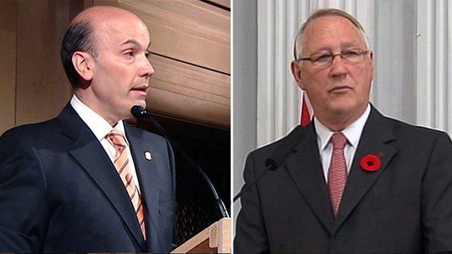 L'ex-président du comité exécutif Frank Zampino et l'ancien maire de Montréal Gérald Tremblay