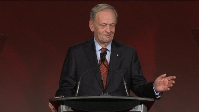 Jean Chrétien a prononcé un discours lors du congrès à la direction du PLC à Ottawa.