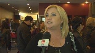 Nathalie Simard fait partie des personnes qui tenaient à être présentes au colloque, qui se déroule à Québec.