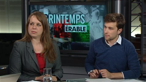 Martine Desjardins, ancienne présidente de la Fédération étudiante universitaire du Québec, et Gabriel Nadeau-Dubois, ancien porte-parole de la CLASSE