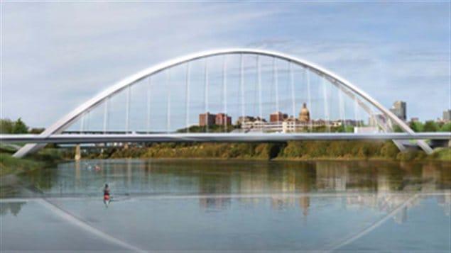 Le plan du nouveau pont Walterdale d'Edmonton