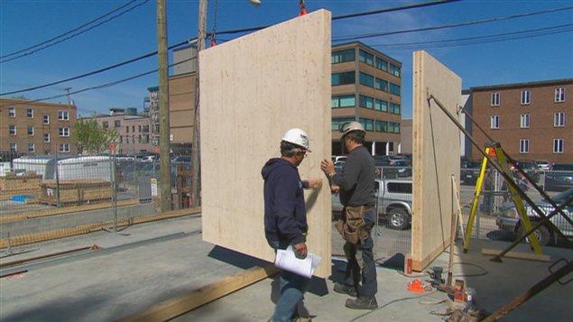 L'édifice d'habitation de six étages sera construit en bois.