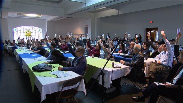 Vote des militants de Projet Montréal en congrès