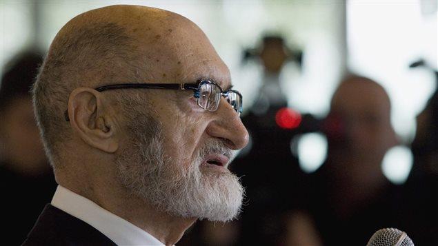 Henry Morgentaler lorsqu'il a reçu l'Ordre du Canada