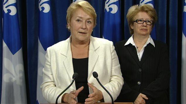 Pauline Marois et Agnes Maltais ont fait des concessions afin que la loi spéciale soit adoptée.