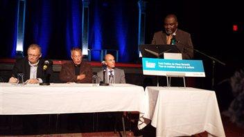 L'annonce du ministre Maka Kotto au Petit Théâtre du Vieux Noranda