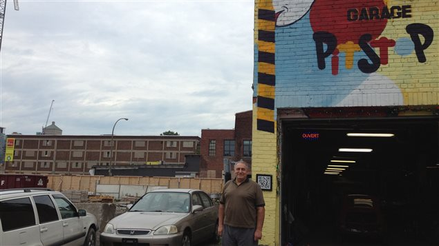 Un garagiste r siste aux grues de griffintown ici radio for Garage ouvert aujourd hui