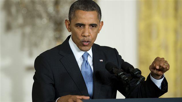 Le président Barack Obama lors de sa conférence de presse du 9 août 2013.