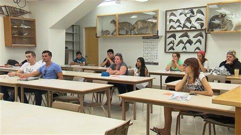 Des étudiants du programme de technologie forestière