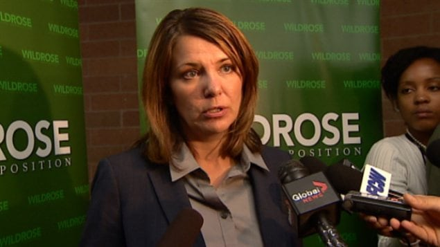 Danielle Smith, chef du Parti Wildrose