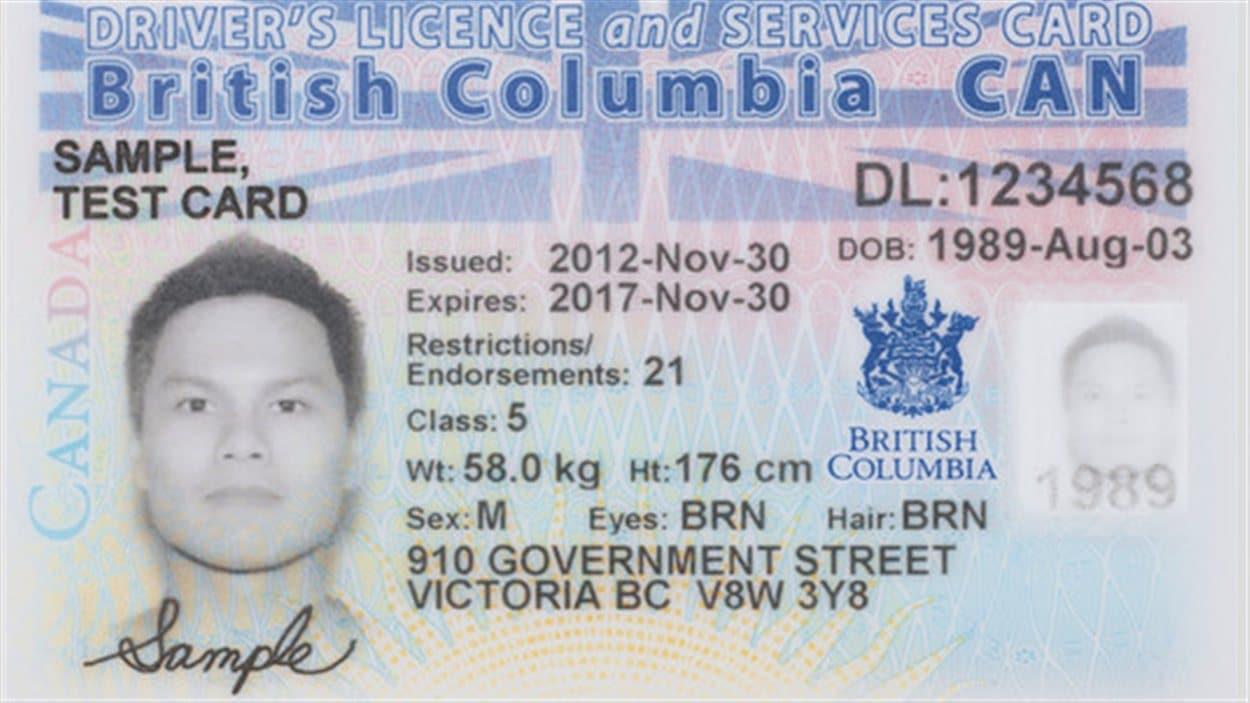 Bc photo id card