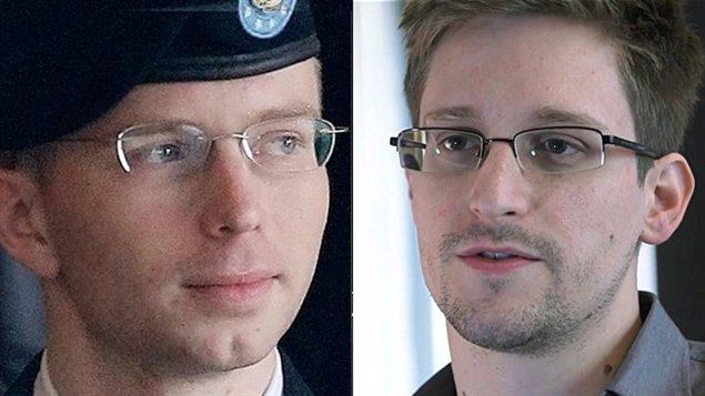 Bradley Manning (à gauche) et Edward Snowden