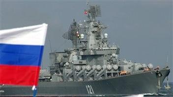Un croiseur russe équipé de missiles