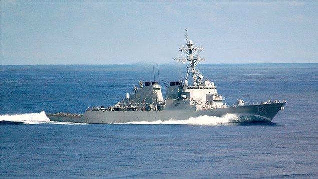 Le contre-torpilleur USS Mahan (archives)