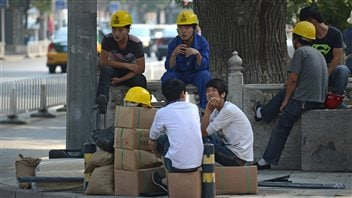 Travailleurs chinois de la construction à Pékin