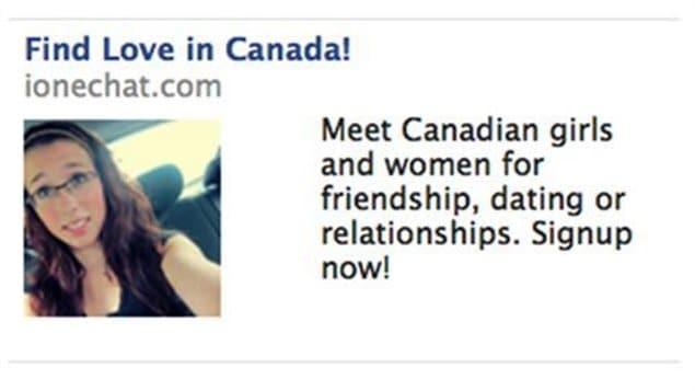 La photo de Rehtaeh Parsons dans une publicité pour un site de rencontre sur Facebook