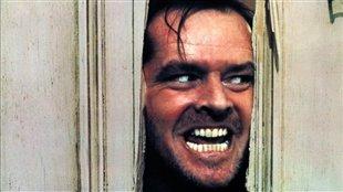 Jack Nicholson dans le rôle de Jack Torrance dans le film The shining de Stanley Kubrick