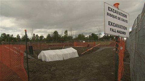 Excavation du pipeline 9B de la compagnie Enbridge