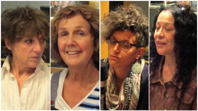 De gauche à droite : Francine Pelletier, Michèle Sirois, Bochra Manai et Leila Bensalem