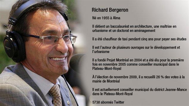 Le candidat à la mairie de Montréal Richard Bergeron
