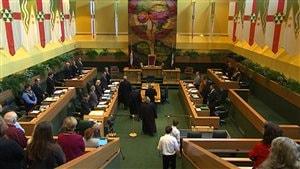 L'Assemblée législative du Yukon.