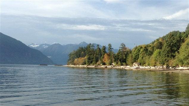 La baie Howe et le parc provincial Porteau Cove en Colombie-Britannique