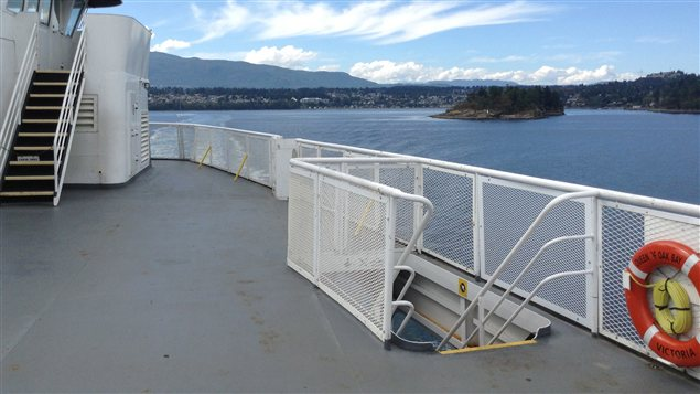 Un pont du Queen of Oak Bay de BC Ferries